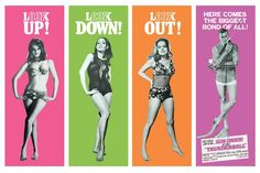 Retro James Bond poster for the fourth Bond film, Thunderball. This James Bond poster features Sean Connery as Bond along with a bevvy of beauties.