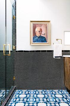 Hollywood Hills Hideaway   Black Lacquer Design - bathroom