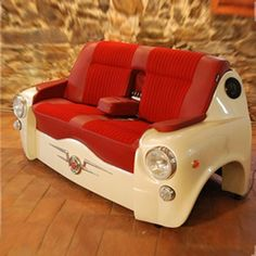 Car Shaped of Real Leather Sofa
