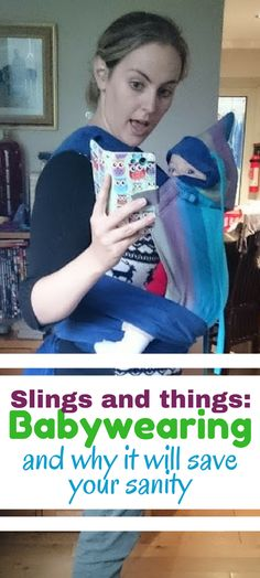 Slings and things Babywearing and why it will save your sanity. The story of how I fell in love with babywearing and got my newborn baby to take a flipping nap occasionally Positive Parenting Solutions, Parenting Advice, Kids And Parenting, Single Parenting, Baby Carrier Newborn, My Newborn Baby, Newborn Care, Baby Baby, Baby Wearing Wrap