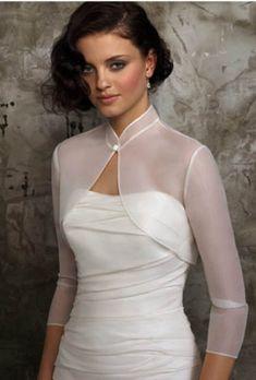 Wholesale Bridal bolero Wedding dress jacket Chiffon sleeve bolero with…