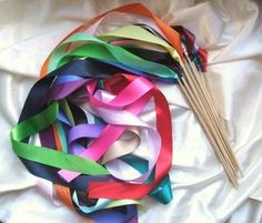 Make these simple ribbon wands.