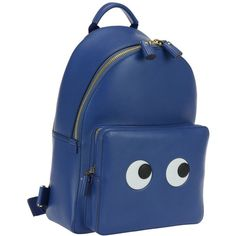 Anya Hindmarch Backpacks (1,170 CAD) ❤ liked on Polyvore featuring bags, backpacks, blueberry, backpack bags, blue bag, anya hindmarch, blue backpack and anya hindmarch bags
