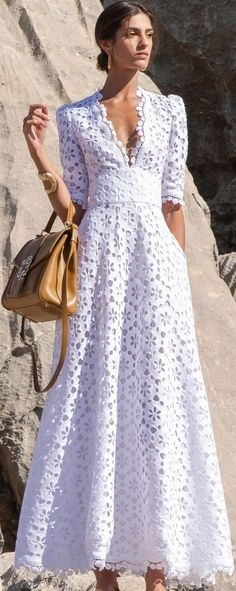 White Maxi Dresses, Elegant Dresses, Pretty Dresses, Lace Dress, Dress Up, Summer Dresses, White Fashion, Look Fashion, Fashion Design