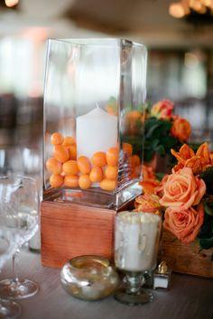 Fruit Centerpieces, Wedding Table Centerpieces, Centerpiece Decorations, Wedding Decorations, Tangerine Wedding, Orange Wedding Colors, Floral Arrangements, Fresh, Floral Design