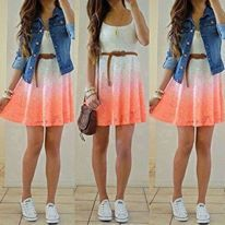A casual way to wear a dress.