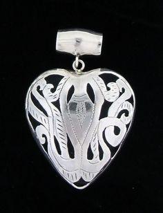 Heart sterling silver pendant bali design $59.99