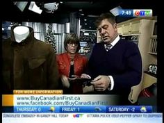 Buy Canadian First on CTV's Morning Live Ottawa: Holiday gift ideas Made in Canada - December 2011 Ottawa, Holiday Gifts, December, Canada, Gift Ideas, Tv, How To Make, Stuff To Buy