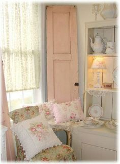 no need to leave corners empty - use a vintage door to make it more interesting