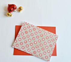 Christmas cards (set of 4), Christmas notecards, Printed christmas cards