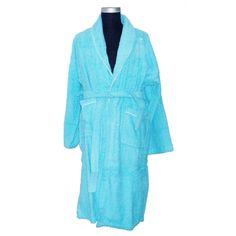 abc1b4b521 TERRY SHAWL SKY BLUE BATHROBE WITH WHITE PIPING Men s Robes