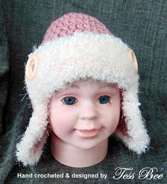 Aviator Hat Photo Prop Earflaps Baby Hat Newborn 3-6m Aviator Hat, Crochet Baby Hats, Pre School, Photo Props, Trending Outfits, Handmade Gifts, Etsy, Handcrafted Gifts, Hand Made Gifts