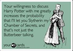 Hahah...oh Harry Potter...