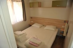 Bettwäsche ist inklusive, Mobilheim J, Camping Nevio, Orebic.