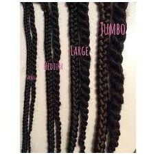 Box Braids Size Chart Protectivebraidshairstyles Click This Image For More Info Box Braids Sizes Braided Hairstyles Big Box Braids