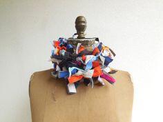 T Shirt Scarf  / Boa / Necklace / Belt / Multicolor / by ohzie
