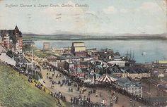 Vue de la Terrasse Dufferin en 1910