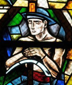 En l'église Sainte-Croix, à Creutzwald (Moselle), un mineur signé Théodore Gérard Hanssen  © Pierre Reinert, président de la société d'histoire locale