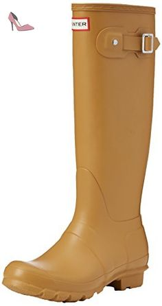 Hunter Bota Original Tall, Bottes femme - Beige - Beige (Burnt Sulphur), 37 EU - Chaussures hunter (*Partner-Link)