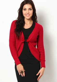 Full Sleeve  Acrowool Cherry  Shrug