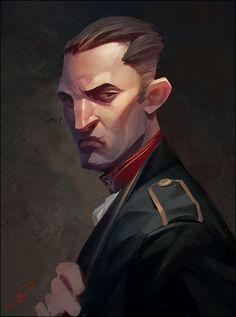 ArtStation - Man face1, Sergey Katsykov illustration men drawing photoshop wacom