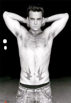 Robbie Williams Take That Fridge Magnet 02 Stoke On Trent, Maisie Williams, Robbie Williams Take That, Robin, Hairy Chest, Ex Husbands, David Beckham, Hairy Men, Good Looking Men