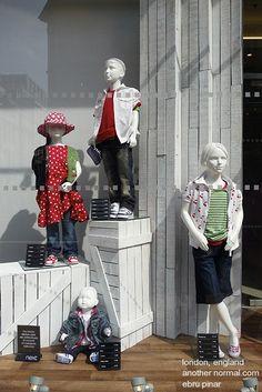 Window shopping in London, England