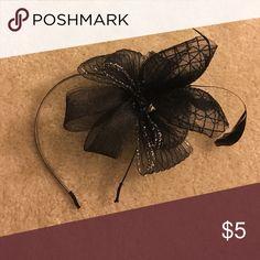 🎩 Whimsical Black Bow Headband 🎩 Whimsical Black Bow Headband / Good Condition Accessories Hair Accessories
