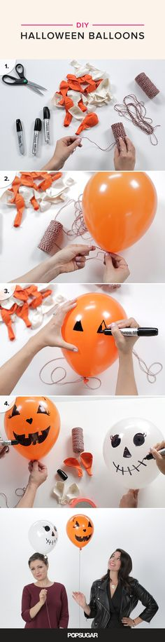 Are you ready for the world's easiest Halloween DIY project? Seriously, even Edward Scissorhands could pull this one off. Well, he might pop a few balloons in the process, but you get the idea.