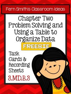 Fern's Freebie Friday ~ FREE Problem Solving with Tables to Organize Data Task Cards, Recording Sheet and Answer Key