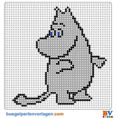 Bilderesultat for moomin cross stitch pattern Knitting Charts, Knitting Stitches, Knitting Yarn, Baby Knitting, Knitting Patterns, Crochet Patterns, Free Knitting, Hama Beads Patterns, Beading Patterns