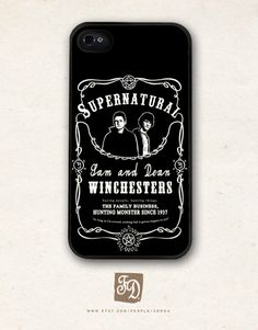 Iphone 5 hard case Supernatural Sam and Dean by FeerieDoll on Etsy, $15.75