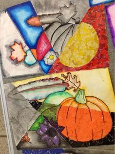 Art at Becker Middle School: Multimedia Still Life Drawings 7th Grade Art, Seventh Grade, Op Art Lessons, Art Assignments, Fall Art Projects, Online Art Classes, Still Life Drawing, Art Curriculum, Middle School Art