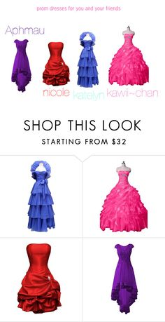 """""""aphmau themed prom dresses for you and friends"""" by nikki-mayo on Polyvore featuring Jean-Louis Scherrer Minecraft Outfits, Aphmau, Pretty Dresses, Prom Dresses, Friends, Polyvore, Shopping, Amigos, Cute Dresses"""