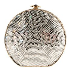 Trendy Women's Purses : Judith Leiber Round Crystal Minaudiere Clutch Judith Leiber, Fashion Handbags, Purses And Handbags, Beautiful Bags, Evening Bags, Evening Clutches, Vintage Fashion, Glamour, Street Fashion