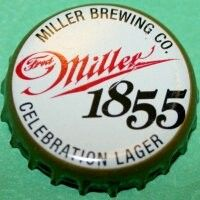 Fred Miller 1855 Celebration Lager, bottle cap | Miller Brewing Company, Milwaukee, Wisconsin USA Beer Bottle Caps, Bottle Top, Beer Bottles, Milwaukee Wisconsin, Capsule, Brewing Company, Design Quotes, Wind Chimes, Celebration