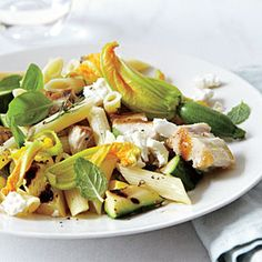 Warm Salad of Summer Squash with Swordfish and Feta | MyRecipes.com