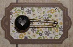 Bijoux style vintage, broche en bronze type épingle à nourrice de la boutique Desfilsdespoints sur Etsy