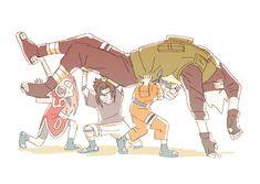 kakashi, naruto uzumaki, and naruto image Naruto Kakashi, Naruto Team 7, Naruto Fan Art, Naruto Shippuden Sasuke, Anime Naruto, Naruto Comic, Naruto Cute, Boruto, Gato Anime