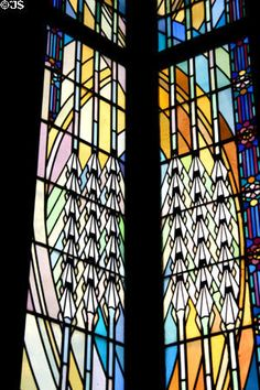 Stained glass windows of Boston Avenue Methodist  Church. Tulsa, OK. This is where I was married