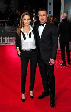 Angelina Jolie Tuxedos makes me want to buy one! Love this look!