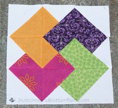 Buttons and Butterflies: Card Trick Block {Tutorial} Need to try this with strips instead of triangles!