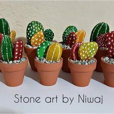 Painted Stone Dandelion Pebbles with Nature Designs floral   Etsy Cactus Rock, Stone Cactus, Painted Rock Cactus, Painted River Rocks, Mini Cactus, Hand Painted Rocks, Indoor Cactus, Cactus Cactus, Painted Stones