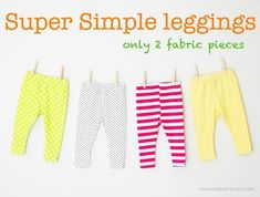 easy baby leggings- Would be doing this but I have a very fashionable Niece that allows me to borrow her clothes. :)