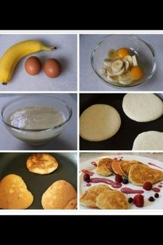 Imagen de banana, food, and pancakes