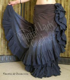 Truffle & Charcoal 18 Yard Dorian Petticoat Skirt.  You can order yours or create your own color combo here:  http://www.paintedladyemporium.com/Shop-Here.html