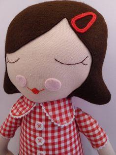 Roxy  handmade cloth doll rag doll by catinkahinkebein  on Etsy,