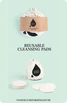 """CLEAN CLEAN Starter Pack """"ORIGINAL""""   wiederverwendbare Reinigungspads im Beutel http://etsy.me/2EETQ2n"""