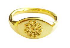 Ring solid 18k yellow gold handmade gold di DragatakisJewellery 498e