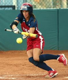 Loved to lay the ball down like- Jessica Mendoza, softball Softball Players, Fastpitch Softball, Softball Jerseys, Jessica Mendoza, Basketball Uniforms, Basketball Shoes, Softball Pictures, Baseball Equipment, Different Sports